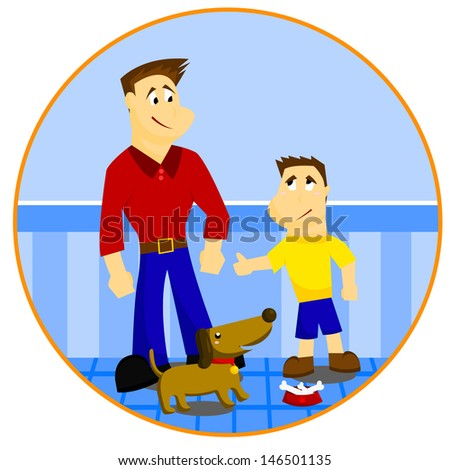 Father and Son - stock vector