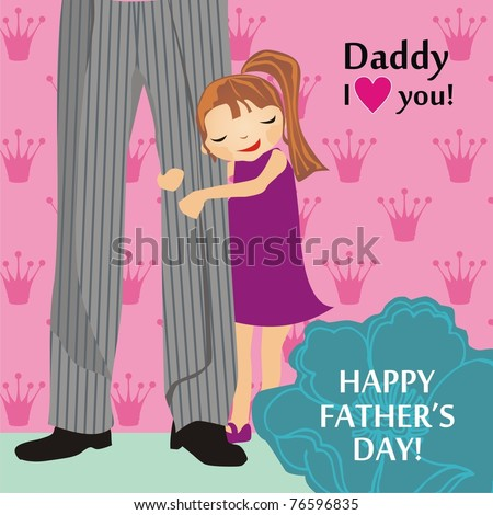 Father's Day card - stock vector