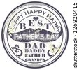 Father's day grunge rubber stamp,vector illustration - stock vector