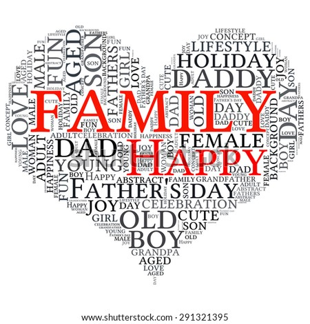 Father's day  info-text graphics and arrangement concept (word cloud)