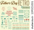 Father's Day Retro Creation Kit - Mustaches, Bows, Ties, Glasses and Hats - stock vector