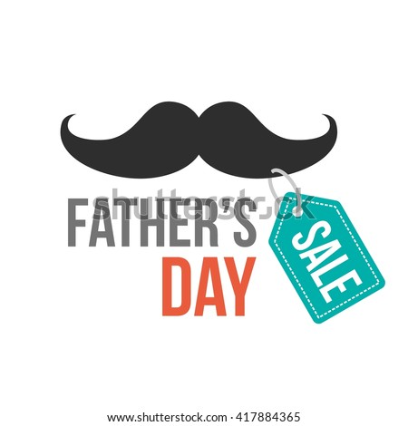 Father's Day sale vector illustration for discount card, shopping template, price label. Happy Father's Day typography design - stock vector