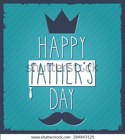 Fathers Day hand drawn poster. Vector illustration. - stock vector