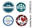 fathers day icons over white background vector illustration - stock