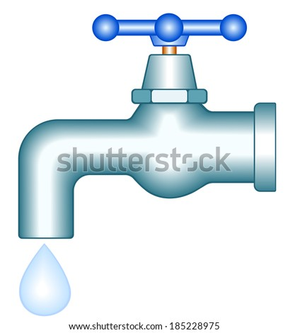 Faucet icon for various design - stock vector