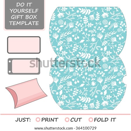 Favor box imgenes pagas y sin cargo y vectores en stock shutterstock favor gift box die cut box template with tiffany blue and white floral pattern solutioingenieria Images