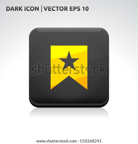 Favorite icon | color dark black gold yellow | icon set | abstract vector symbol | template design | shadows shiny | business button | abstract 3d - stock vector