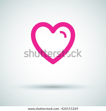 Favorites isolated minimal icon. Heart line vector icon for websites and mobile minimalistic flat design. - stock vector