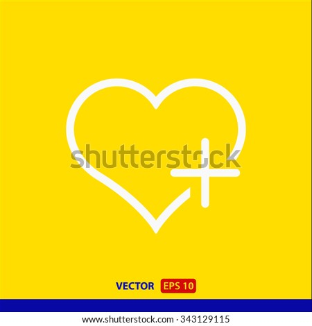 Favorites, linear icon. One of a set of linear web icons - stock vector