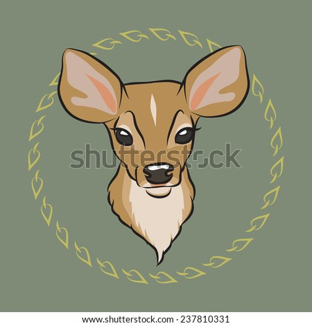 Fawn. Colored vector illustration. - stock vector