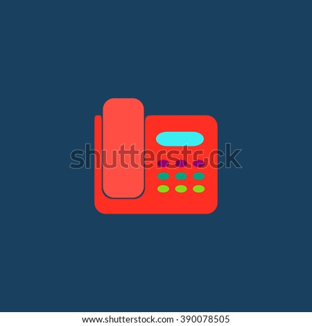 Fax machine. Flat simple modern illustration pictogram. Collection concept icon for infographic project and logo - stock vector