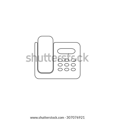 fax machine outline black simple vector stock vector 307076921
