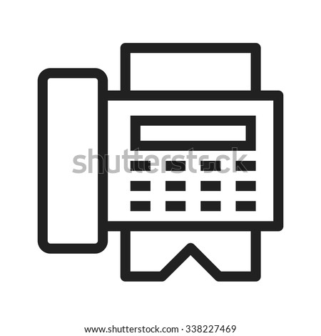 Fax machine, reciept, telephone, icon vector image.Can also be used for hotel and restaurant. Suitable for web apps, mobile apps and print media. - stock vector