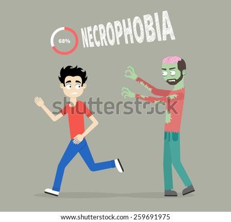Cartoon People Running Away In Fear