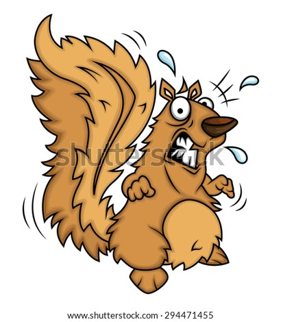 Fearful Squirrel - stock vector