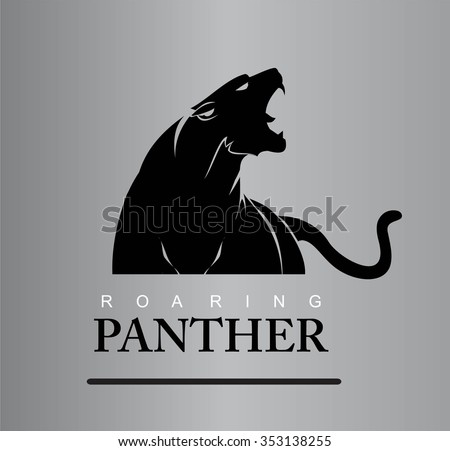 Fearless Panther. Roaring Predator. Roaring Panther. Panther head, elegant panther head. Panther half body. Roaring fang face. Combine with text