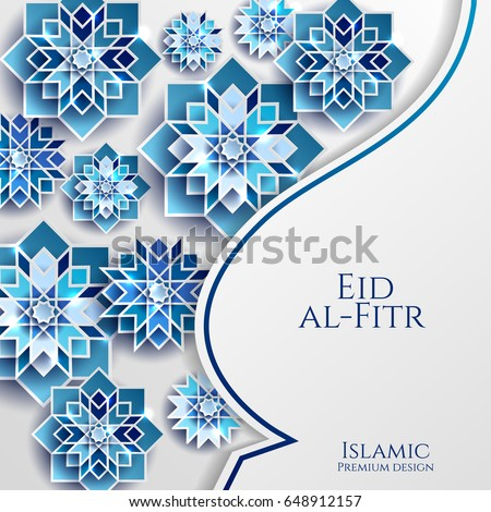 Wonderful Paper Eid Al-Fitr Decorations - stock-vector-feast-of-breaking-the-fast-celebrate-greeting-card-with-paper-cutting-style-with-bright-colored-648912157  Trends_769684 .jpg