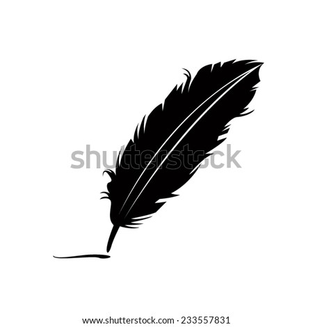 feather black silhouette