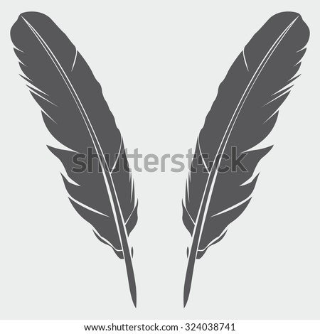Feather Icon - stock vector