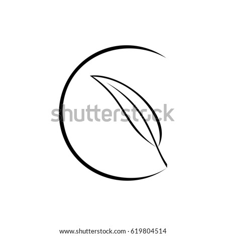 Ideal Feather Inside Half Circle Line Stock Vector (2018) 619804514  VF93