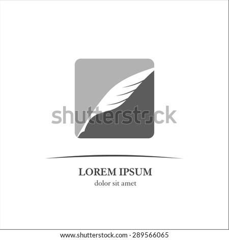 Feather pen - stock vector