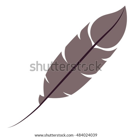 Feather plume icon. Vintage decorative and ornament theme. Isolated design. Vector illustration