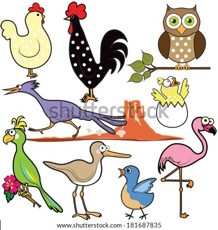 Feathered friends - stock vector