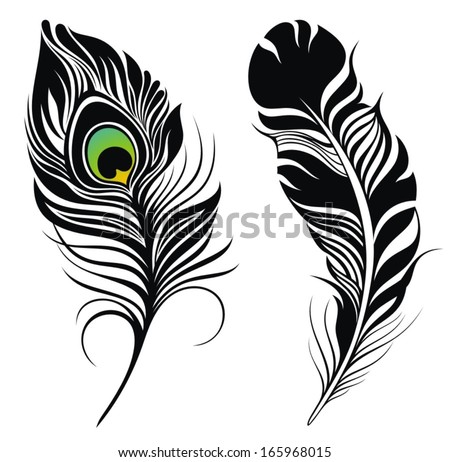 Peacock Feather Design Black And White | www.pixshark.com ...