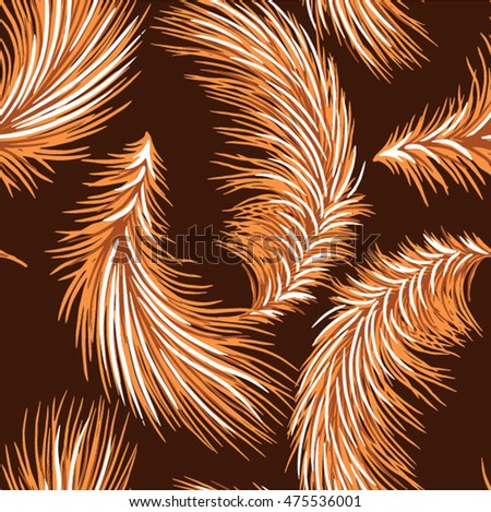 feathers are beautiful on design pattern for fabric
