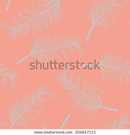 feathers seamless pattern, editable separated layers,   eps 10 vector