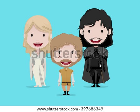 FEB 02, 2016:Game of thrones vector illustration