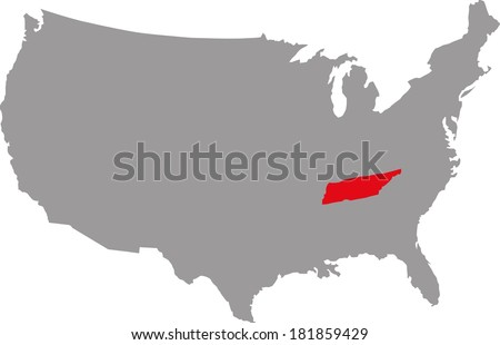 federal state of USA Tennessee