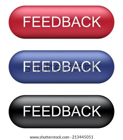 Feedback Buttons - stock vector
