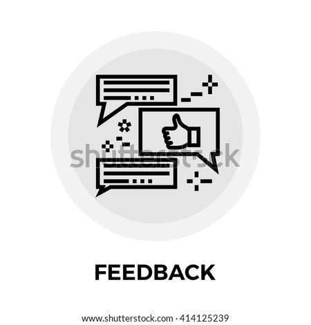 Feedback icon vector. Flat icon isolated on the white background. Editable EPS file. Vector illustration. - stock vector