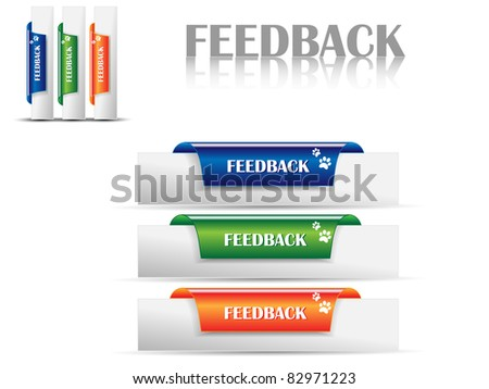 Feedback Labels,bookmarks for feedback-Vector - stock vector