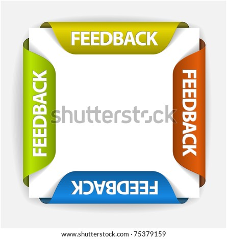 Feedback Labels / Stickers on the edge of the (web) page - stock vector