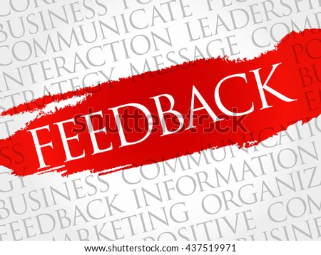 Feedback Word Cloud, business concept background - stock vector