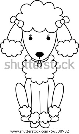 FeFe the Poodle - stock vector