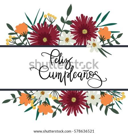 happy birthday spanish banco de imagens, fotos e vetores livres de, Birthday card