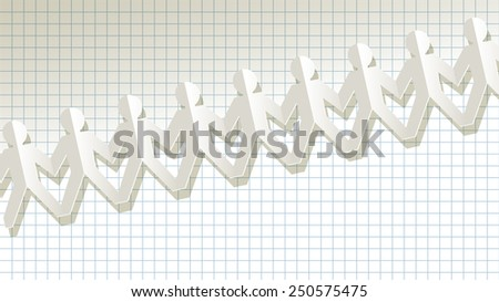 fellows paper blue on checkered background - stock vector