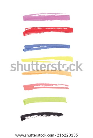 felt pen lines vector design elements - stock vector