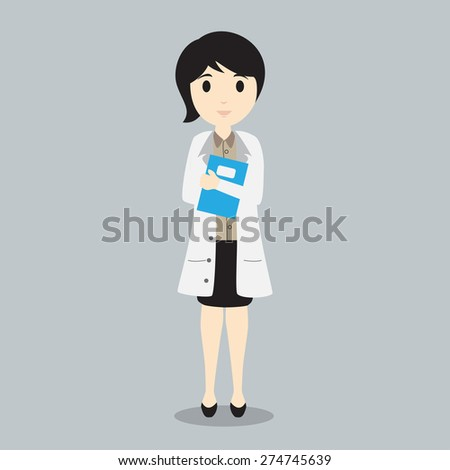 Female Doctor high quality vector graphic EPS10 - stock vector