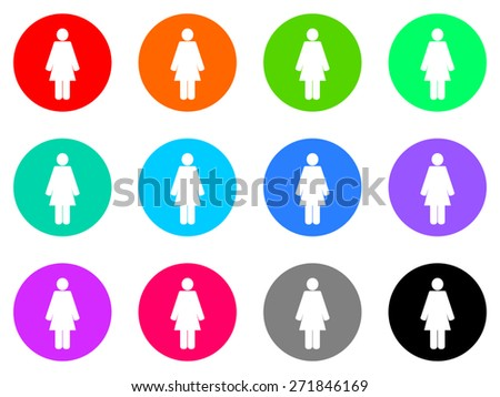 female gender vector web icon set - stock vector