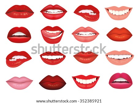 how to draw cartoon lips smiling