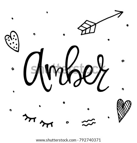 Female name amber template invitation greeting stock vector royalty female name amber template for invitation and greeting cards envelopes t shirts stopboris Images