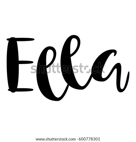 ella lettering stock images royaltyfree images amp vectors