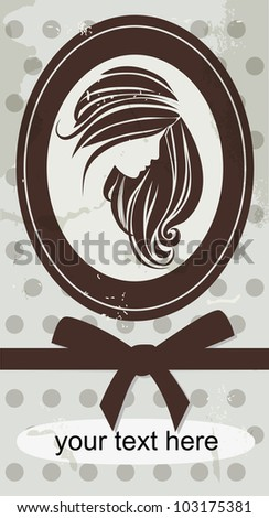 Female portrait - stock vector