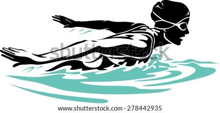 Butterfly Swim Clip Art
