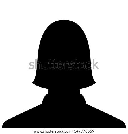 female profile picture, silhouette profile avatar - stock vector