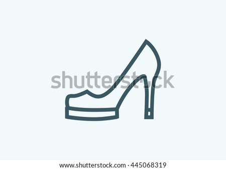 Female shoes icon. Female shoes icon Vector. Female shoes icon Art. Female shoes icon eps. Female shoes icon Image. Female shoes icon logo. Female shoes icon Sign. Female shoes icon. Female shoes icon - stock vector
